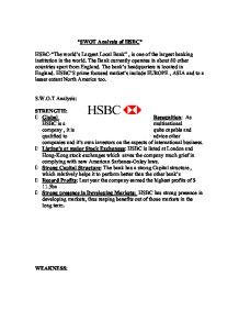 HSBC Swot Analysis Essay Sample