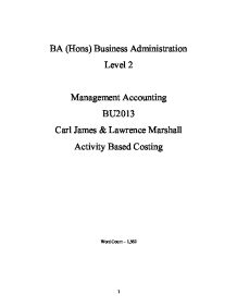 introduction to the activity based costing accounting essay Introduction activity-based costing (abc), a tool for cost management, has recently gained popularity, is based on a simple idea: in an enterprise, overhead (or operating expenses) are measured by a number of activities needed to successfully perform manufacturing and business processes.