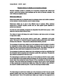 financial and nonfinancial methods of motivation business essay Financial and non-financial issues and risks of setting up foreign subsidiaries and impact of export trade - matthias meier - term paper - business economics - investment and finance - publish your bachelor's or master's thesis, dissertation, term paper or essay.