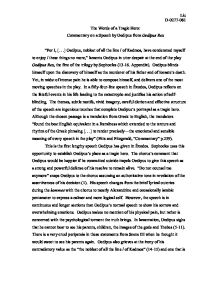 essay about oedipus the king co essay