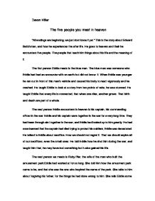 essay five heaven in meet people When he gets to heaven, he is met by five different people in heaven analysis english literature essay the five people who will meet me in heaven.