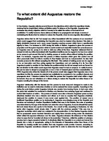 augustus restored republic essay