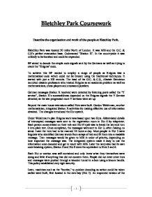 Bletchley park coursework