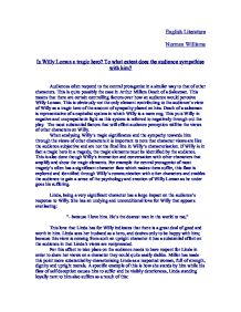 eulogy willy loman essay Death of a salesman essay willy loman has lived his life working as a traveling salesman linda, his wife, takes care of the household.