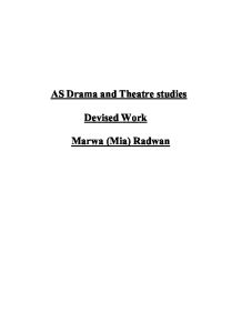 The Drama Department - Barton Court Grammar School