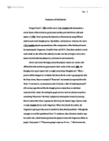 V for vendetta evey essay