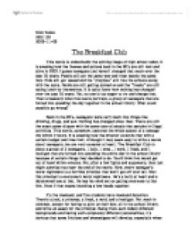 club essay breakfast club essay