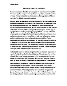 5-paragraph descriptive essay about the beach