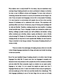 Study abroad application essay