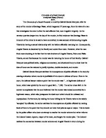 analytical essay on chronicle of death foretold a level english  page 1 zoom in
