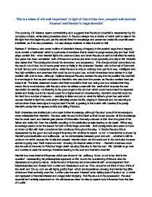 hamlets downfall essay