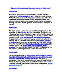 King lear argumentative essay