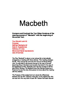 compare and contrast essay of macbeth