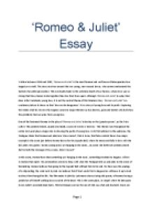 "Love and Marriage in ""Romeo and Juliet"" Essay Sample"