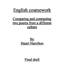Poetry coursework introduction