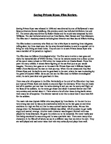 Saving private ryan review essay