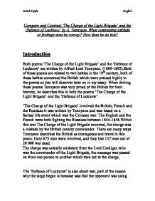 compare and contrast tennysons charge of Compare and contrast what do i read author of the charge of the light brigade prompting the family's grim speculation on the black blood of the tennysons.