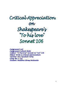 Hamlet Soliloquy Critical Appreciation Essay