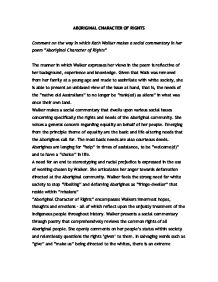 kath walkers aboriginal character of rights essay