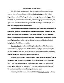 Prohibition And The Great Gatsby  Alevel English  Marked By  Prohibition And The Great Gatsby  Alevel English  Marked By Teacherscom Thesis For Argumentative Essay also Uk Writing Service  High School Years Essay