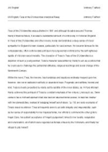 tess of the d urbervilles essay introduction