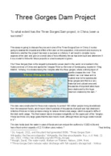 Essay three gorges dam