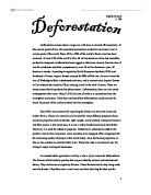 deforestation essay in english
