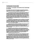 demographic transition essay