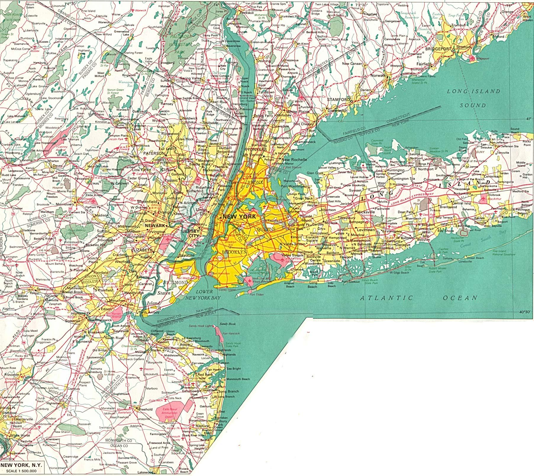 New York Megacity ALevel Geography Marked By Teacherscom - New york map geography