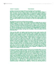 Comparative essay structure