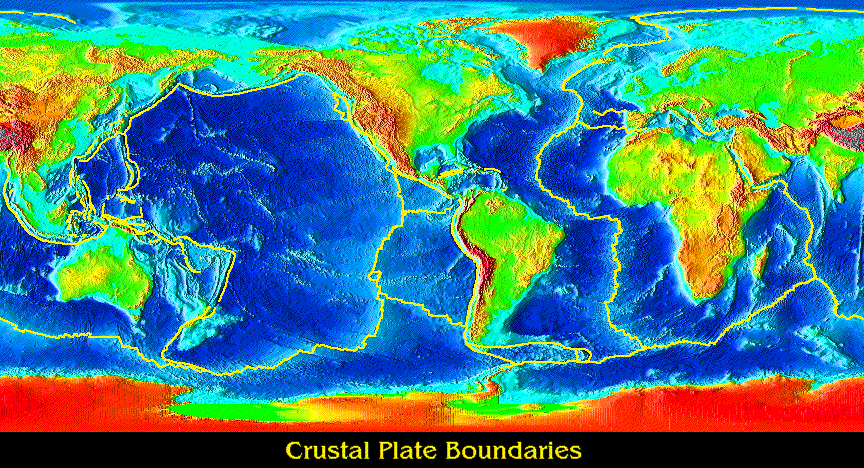 Plate tectonics a level geography marked by teachers these lines on this map show us where all of the mid ocean ridges are and form all of the tectonic plate boundaries on which the continents are situated publicscrutiny Choice Image