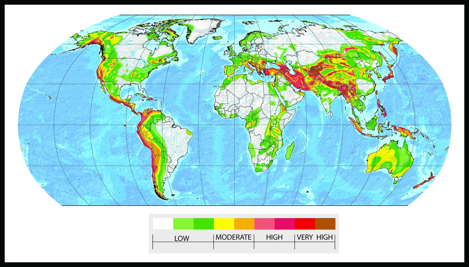 The global distribution of geophysical hazards a level geography fig5 seismic risk gumiabroncs Gallery