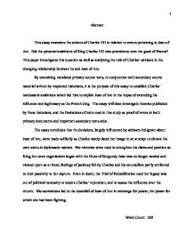 Examples Of An Essay Paper This Essay Examines The Actions Of Charles Vii In  Essays On Business Ethics also English Essay Outline Format What Was The Main Cause Of The First English Civil War  Alevel  What Is A Thesis For An Essay