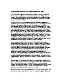 who was to blame for the war charles i or parliament  alevel  teacher marked why did parliament win the english civil war