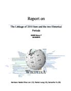 the hundred years war fought between two royal houses for the  report on the linkage of 2010 item and the two historical periods
