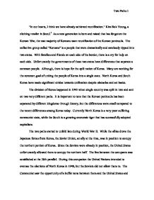 essay on south korea