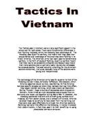 an analysis of military tactics of usa and the vietcong The military tactics used by both the usa and viet cong forces in vietnam in the 1960's - assignment example.