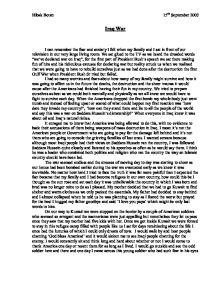 Essay on family speraction on iraq wae