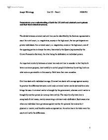 Criminal law essays uk