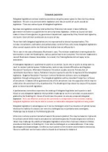 Delegated legislation essay