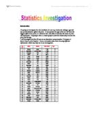 What calculations should I carry out for my investigation for my statistics coursework?