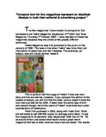 compare two magazines essay