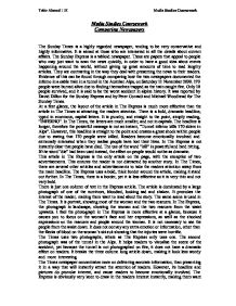 Comparing newspapers essay