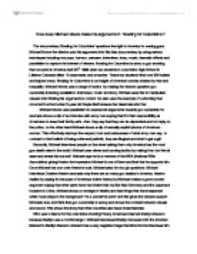 michael moores bowling for columbine essay Research essay sample on columbine high school gun violence custom essay writing columbine moore gun bowling  example research essay  michael moores.