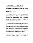 safeguarding children essay example Outline current legislation , guidelines , policies and procedures within own uk  home nation affecting safeguarding of children and young.