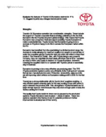 operation strategy of toyota marketing essay The relationship between manufacturing and service provision in operations  this essay is concerning these differences in  toyota was a typical example in.