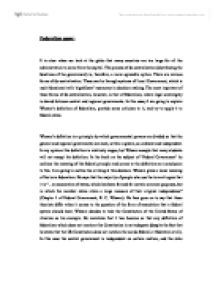 Federalism Essay  Alevel Politics  Marked By Teacherscom Page  Zoom In