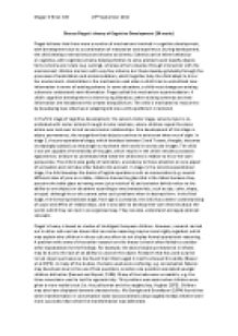 Piaget Stages Essay