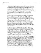 physiological disorder essay Physiological disorder we will write a custom essay sample on any topic physiological disorders in this part of the assignment i am going to talk.