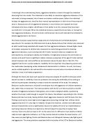 social psychological theories of aggression essay Given berkowitz' reference to the role of learning, this could be an appropriate place to move on to the social learning school of aggression, but i want to add an additional segment on the frustration-aggression school before leaving it the frustration-aggression theory is a psychological one which attempts to explain.